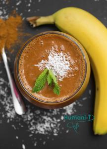 Chocolate Banana Coffee Smoothie at humanitea.com