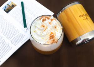 pumpkin spice harvest latte humanitea.com