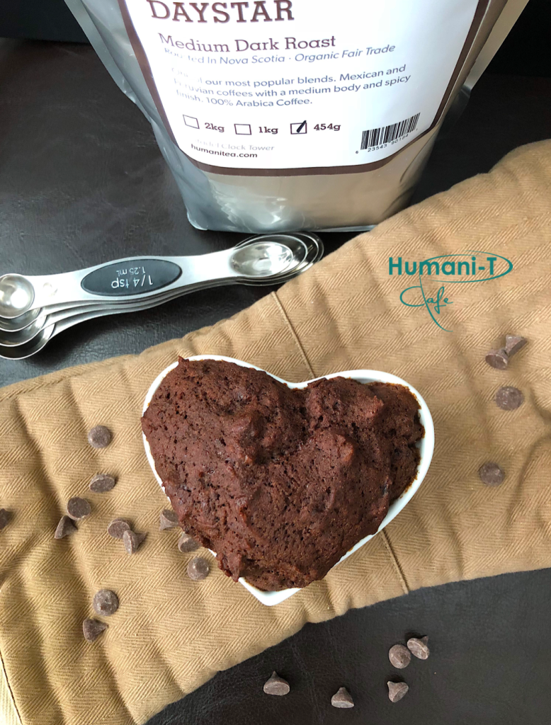 vegan chocolate coffee mug cake humanitea.com