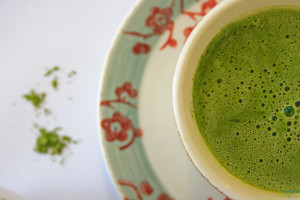 Homemade fluffy lattes matcha