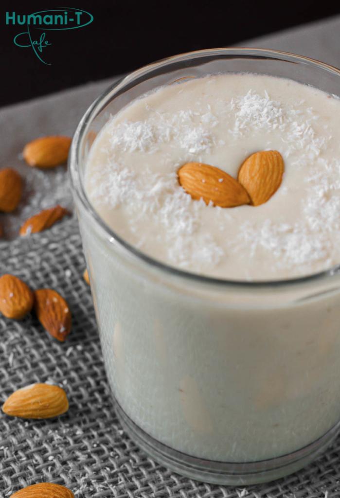 Vanilla Almond Coconut Coffee Smoothie humanitea.com