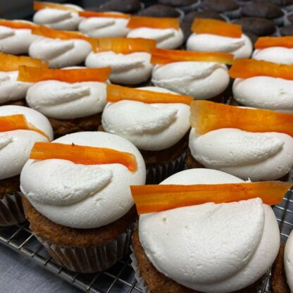 Vegan Carrot Cupcakes - Authentic taste of a rich carrot cake using only plants ingredients.